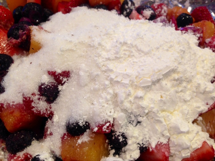 mixed berry & peach cobbler (13)