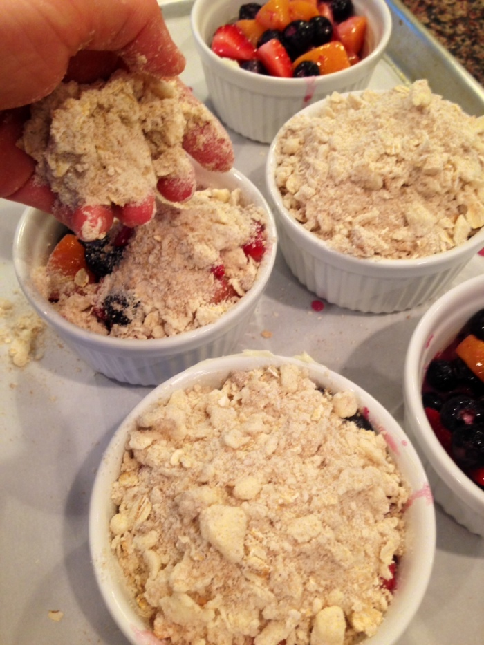 mixed berry & peach cobbler (2)