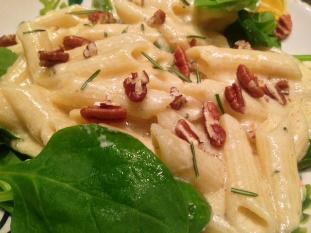 pasta gogonzola with a twist