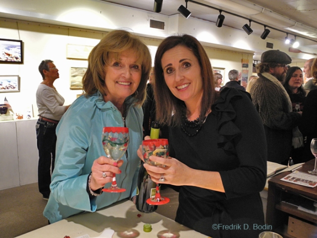 A month ago, I hosted the Good Morning Gloucester Holiday Party. This is mother and daughter Pat and Felicia Ciaramitaro, holding coordinated Christmas wine glasses they brought just for for the event. I've made friends and met many that I'd never know otherwise since my involvement with GMG. Next event: Valentine's Day.
