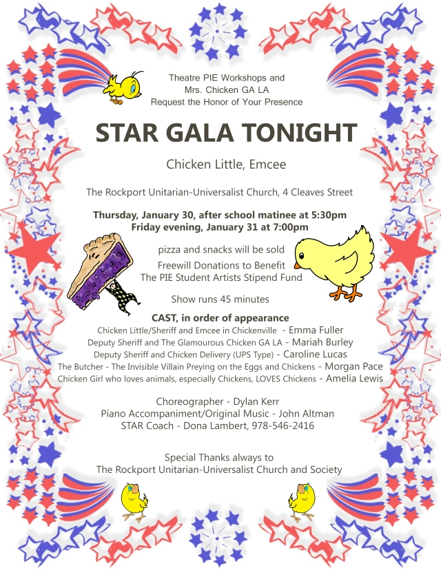 Star Gala Flyer by Angela Cook