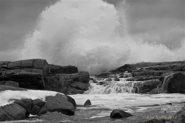 Brace Cove big wave ©Kim Smith 2014