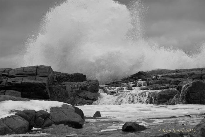 Brace Cove big wave ©Kim Smith 2014