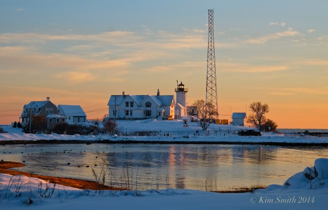 Eastern Point Lighthouse sunset ©Kim Smith 2014