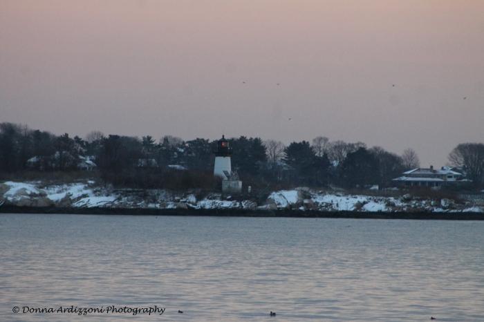 February 4, 2014 sunsetting Ten pound island