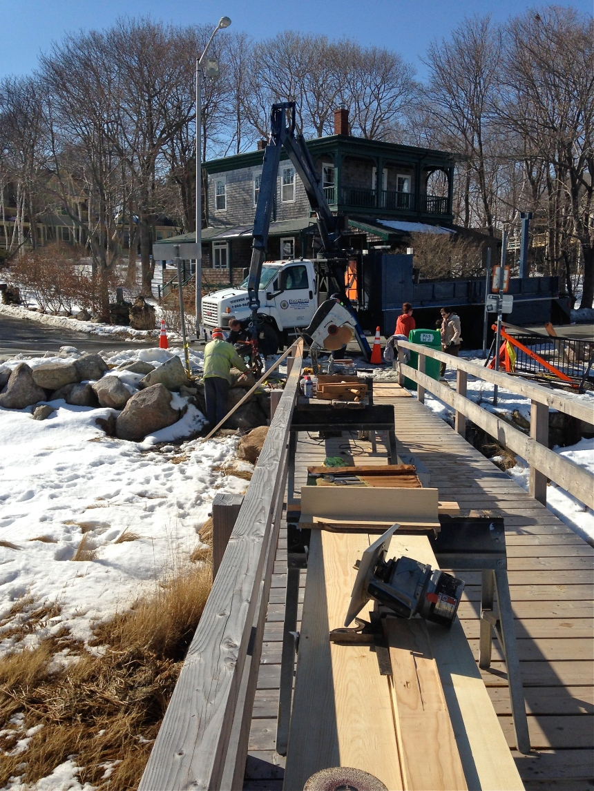Godd Harbor Beach Footbridge Repairs ©Kim Smith 2014