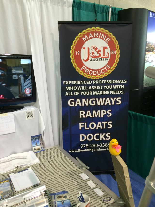 J&L Marine. The J and the L were way too busy actually working so Rubber Duck manned the booth.