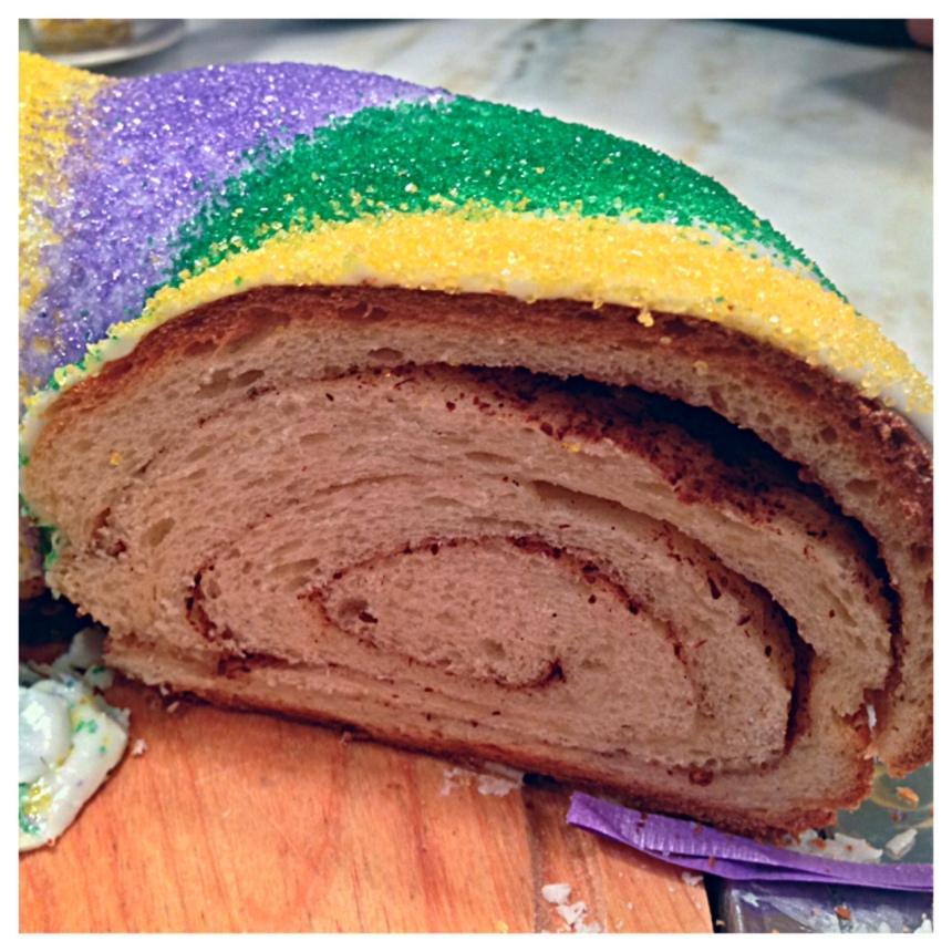 king cake half