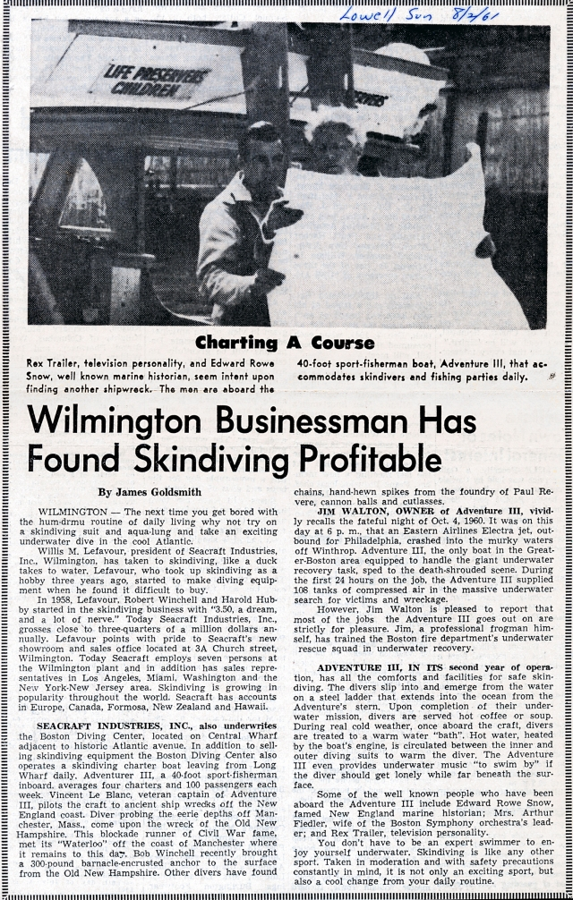 seacraft article in lowell sun_1961