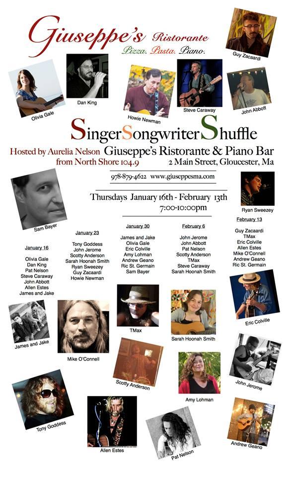 Singer Songwriter Shuffle jan 2014