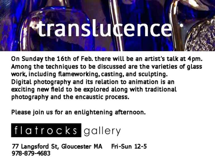 translucence artist talk