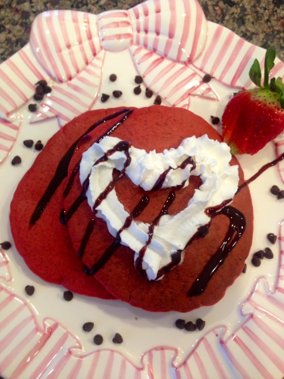 valentine red velvet pancake 4