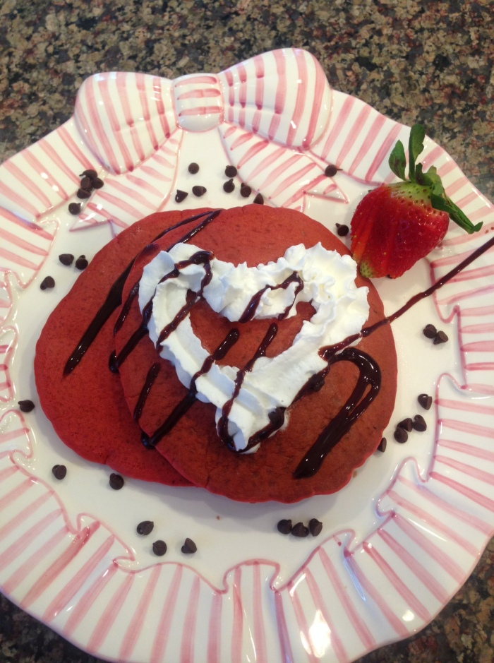 Valentine red velvet pancake final