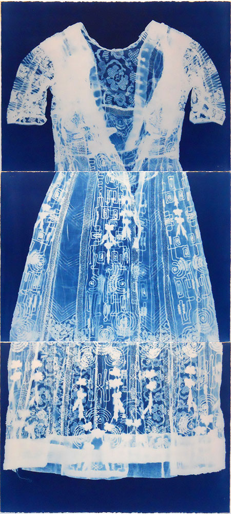 Dress 1 - cyanotype - 66x30