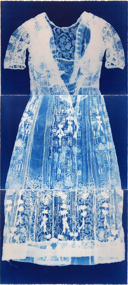 Dress 1 - cyanotype - 66x30