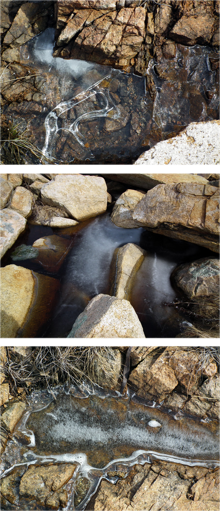 ice and tidal pools