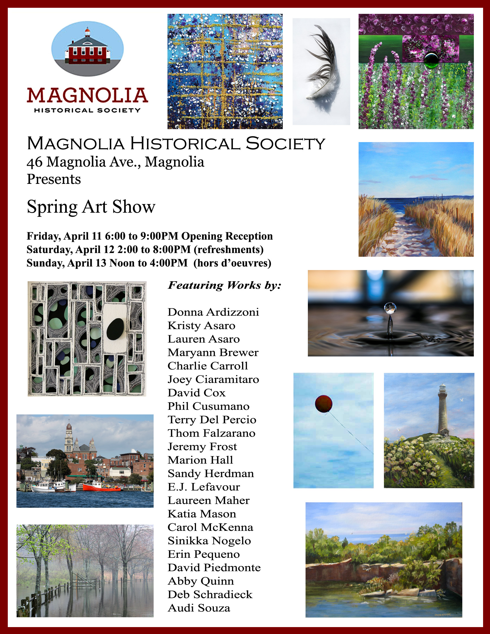 Magnolia Historical Society Spring Art Show poster_spring2