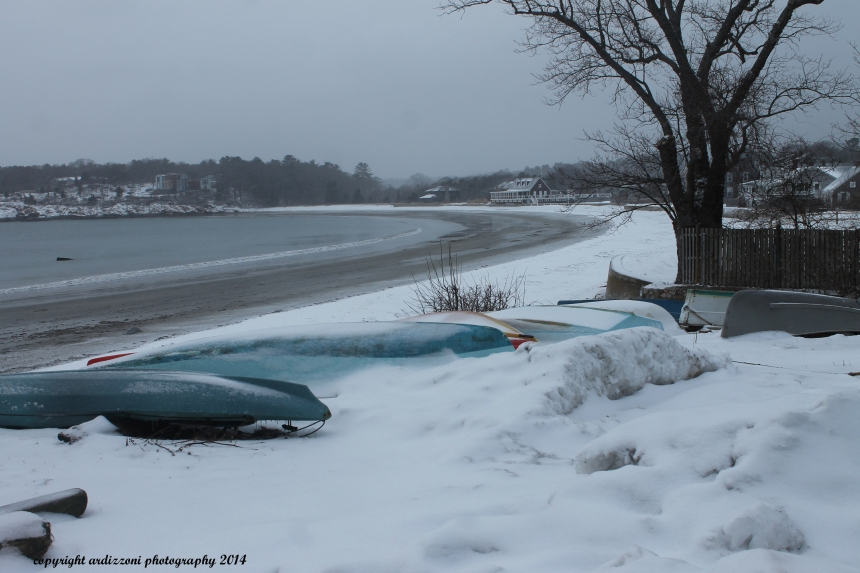 March 5, 2014 Kayaks against the snow