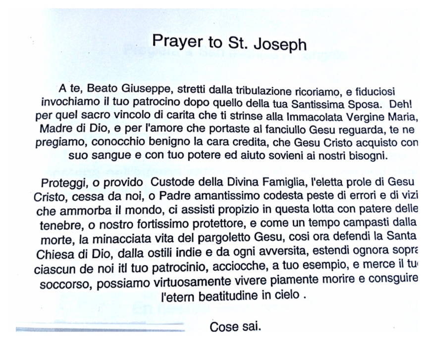 st joe prayer