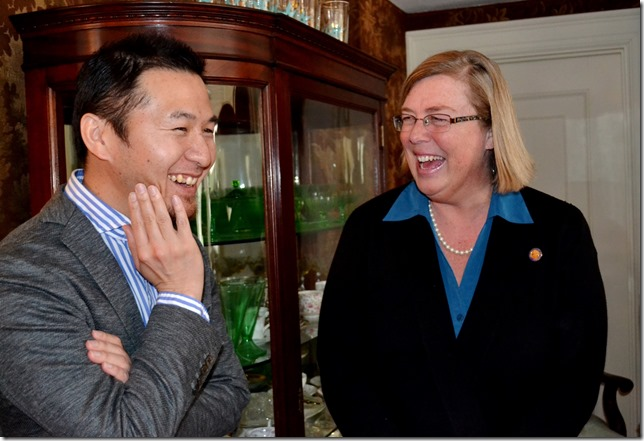 Tatsuki Tomita and Mayor Kirk