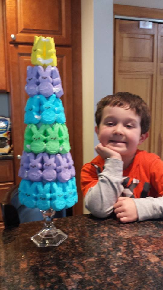 Gmg fob shares marshmallow peeps easter centerpiece