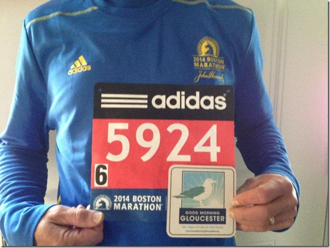 Dennis Represents at the Marathon