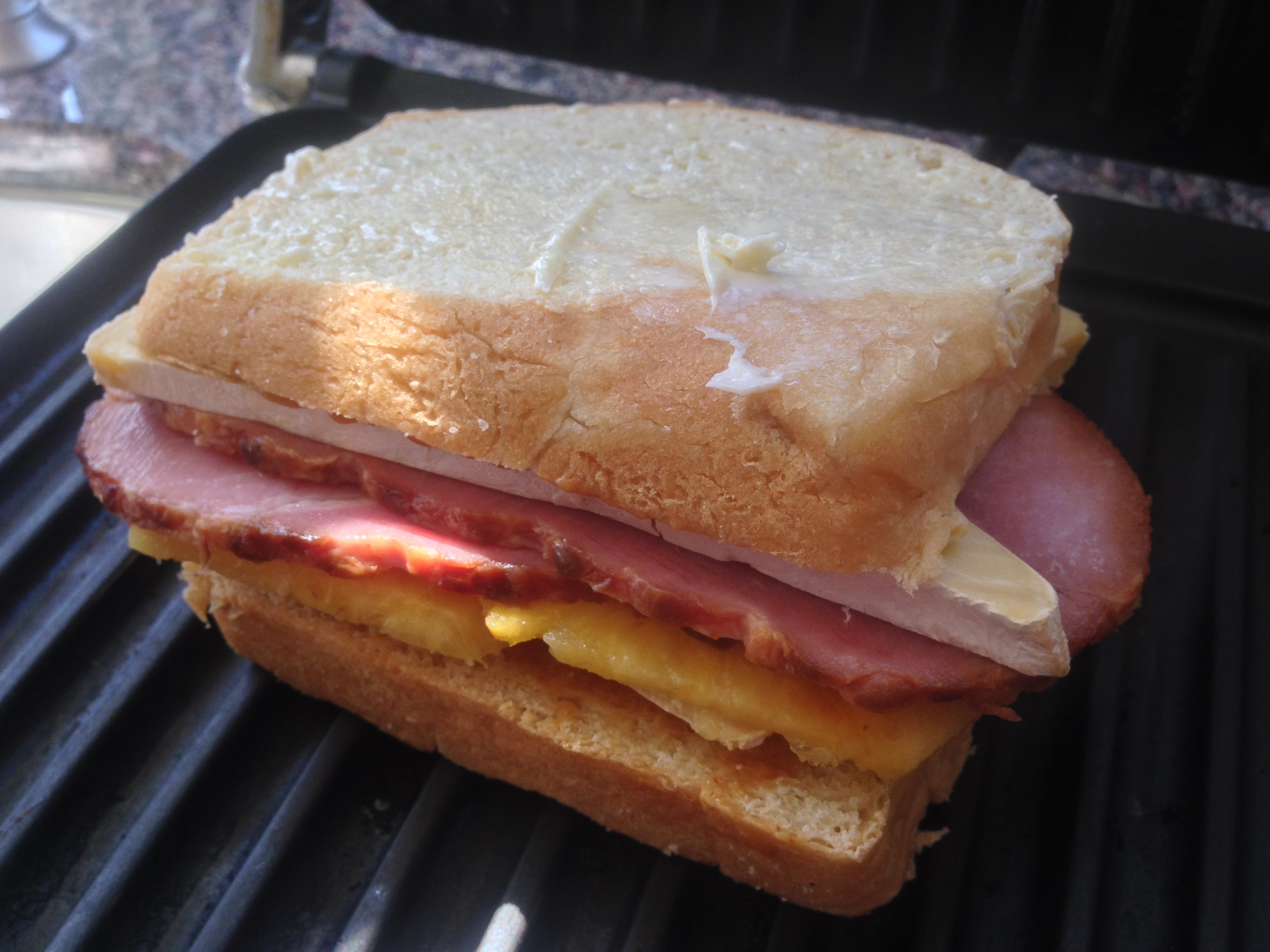 Portuguese Sweet Bread Ham and Cheese Panini ...