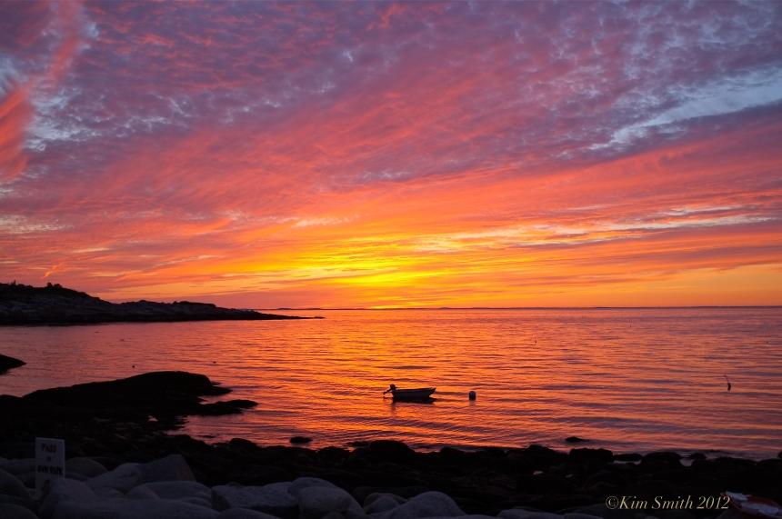 Lobster Pool Restaurant Rockport Cape Ann sunset ©Kim Smith 2012