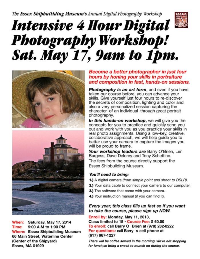 digital photography workshop poster copy