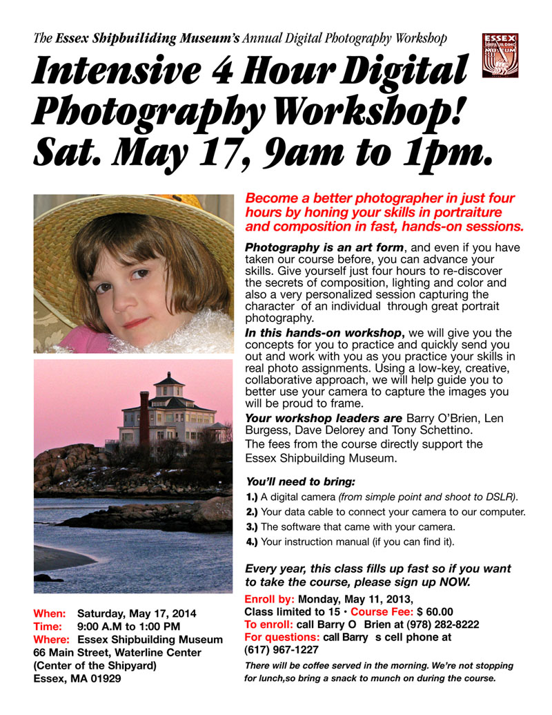 digital photography workshop poster copy