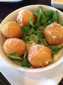 Crispy Goat Cheese Balls with Truffle Honey Glaze
