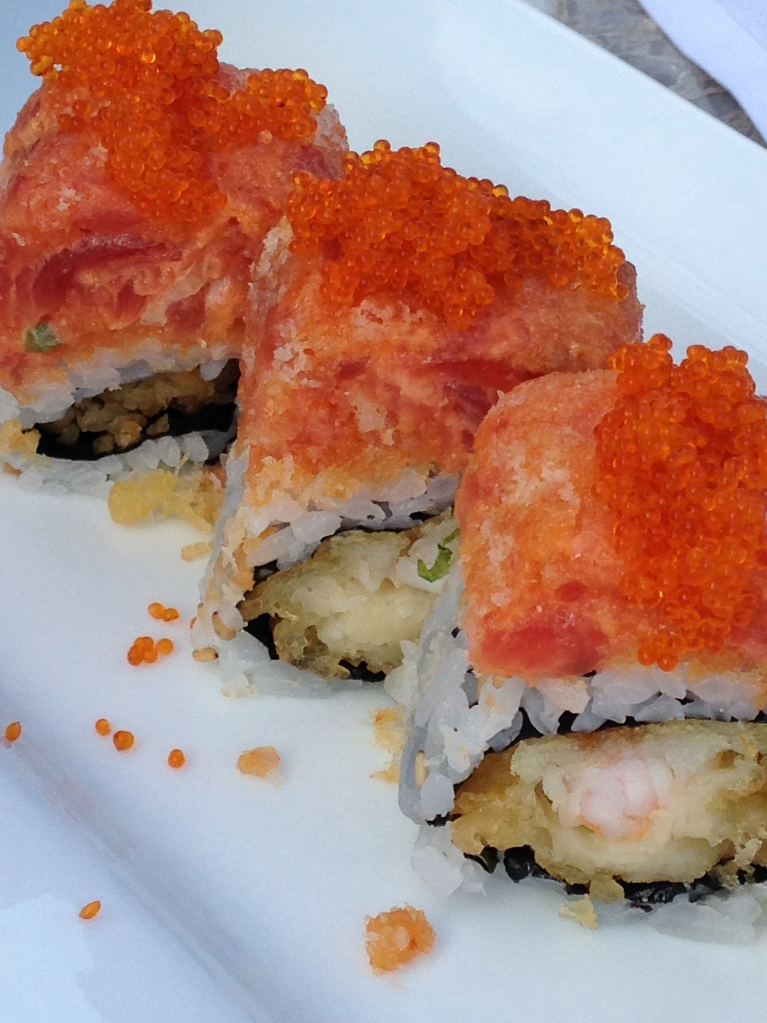 Red Dragon Roll:  SOO unbelievably good!