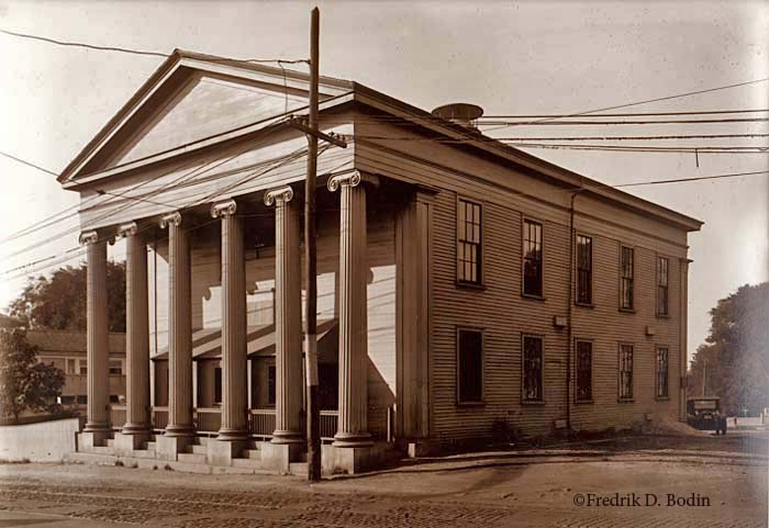 The City of Gloucester's first seat of government was at 8 Washington Street. After the city government moved into the new City Hall on Dale Avenue in the 1870's, the old Town Hall became the Forbes School, and is now home the the American Legion, Post 3.