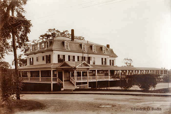 The Delphine was located on Eastern Point Road, on top of Patch Hill, and past the Harbor View Hotel (which is now Windward Point).