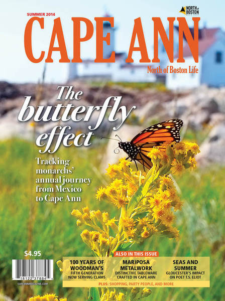 Cape Ann Magazine Cover Kim Smith. Summer 2014