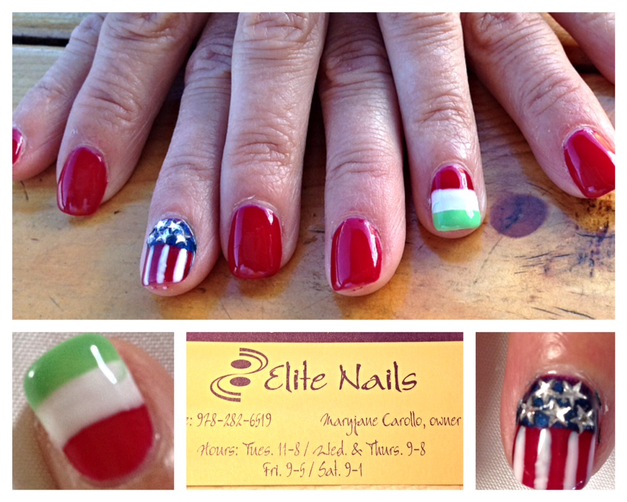 Fiesta & 4Th of July Nail Art at Elite Nail Salon ...