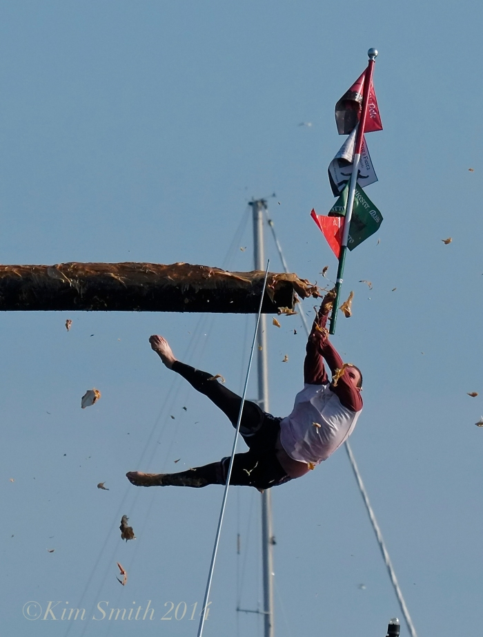 Greasy Pole Kyle Barry for the WIN! Saint Peter's Fiesta ©Kim Smith 2014 -2