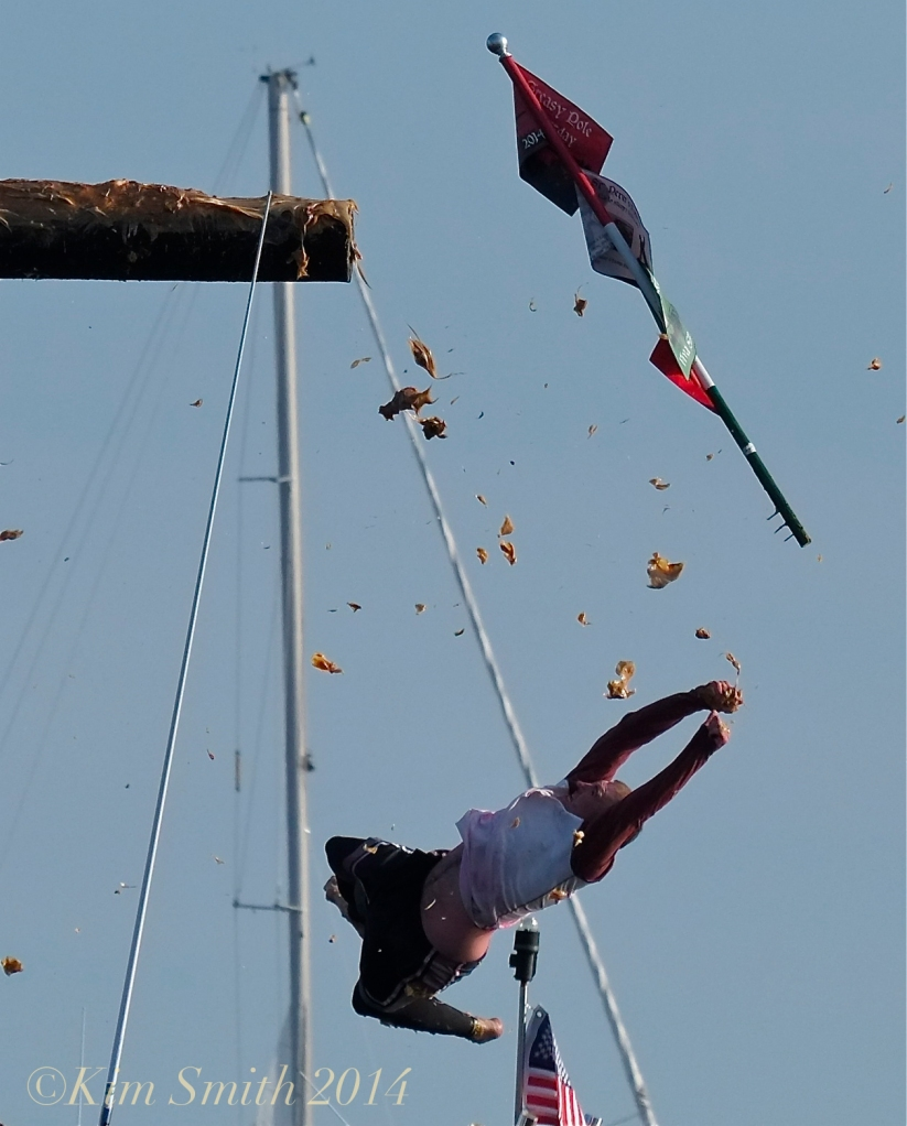 Greasy Pole Kyle Barry for the WIN! Saint Peter's Fiesta ©Kim Smith 2014 .-3