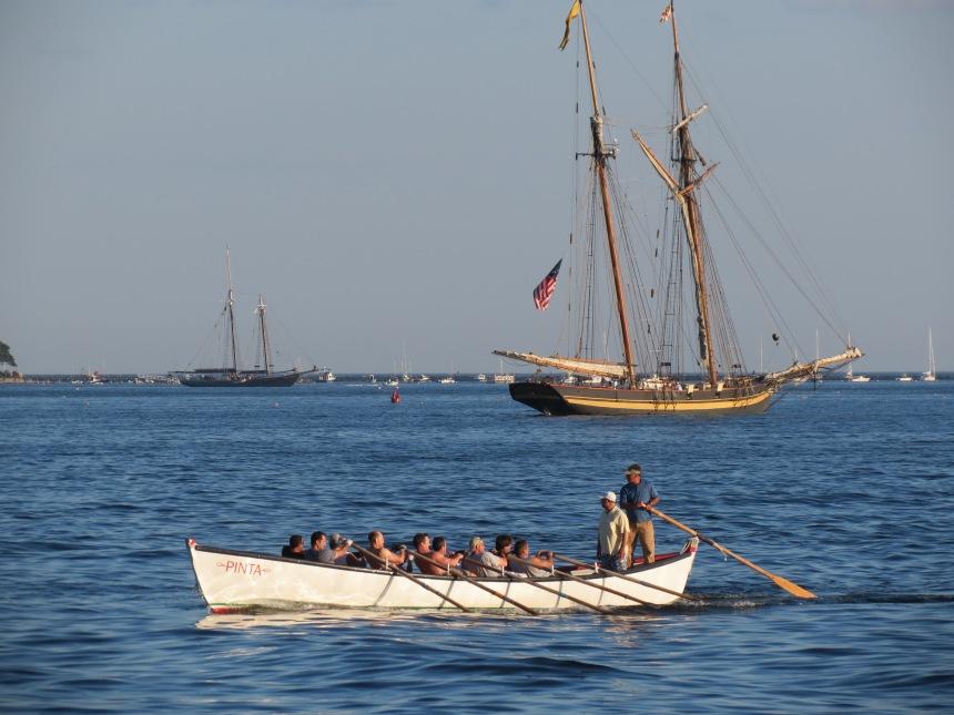 Seine Boat practice in Gloucester Harbor