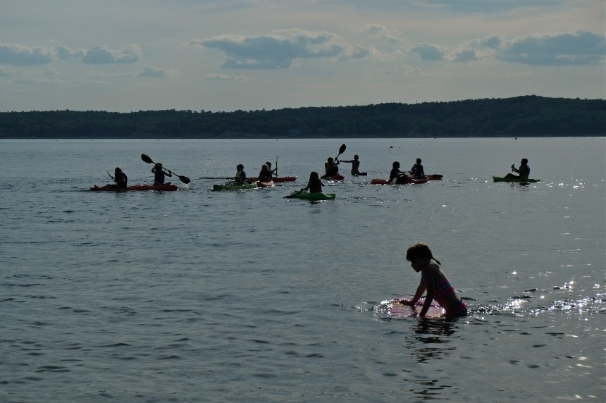 Niles Beach kid kayakers ©kim Smith 2014
