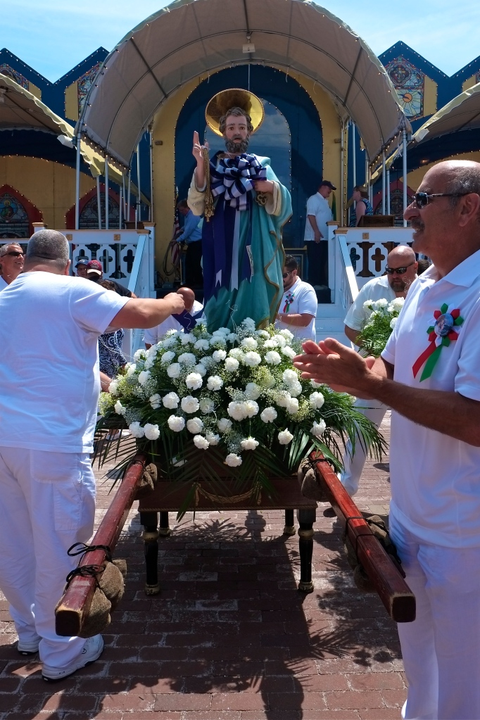 Saint Peter' Fiesta Saint Peter statue  ©Kim Smith 2014.