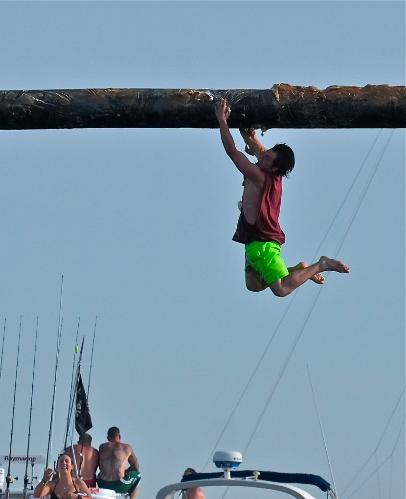 Saint Peter's Fiesta Greasy Pole Saturday ©Kim Smith 2014 -16