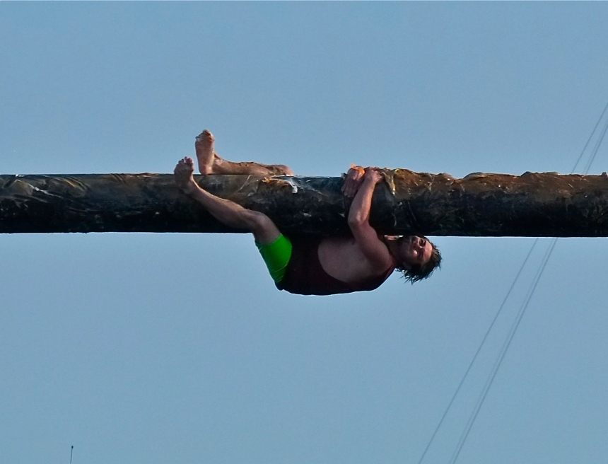 Saint Peter's Fiesta Greasy Pole Saturday ©Kim Smith 2014 -17