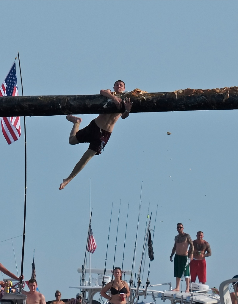 Saint Peter's Fiesta Greasy Pole Saturday ©Kim Smith 2014. -3 JPG