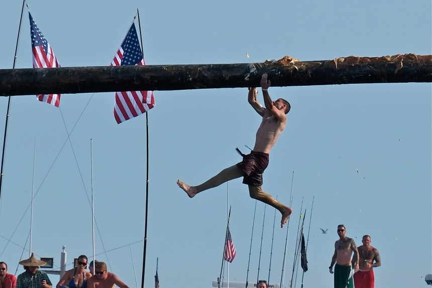 Saint Peter's Fiesta Greasy Pole Saturday ©Kim Smith 2014 -8