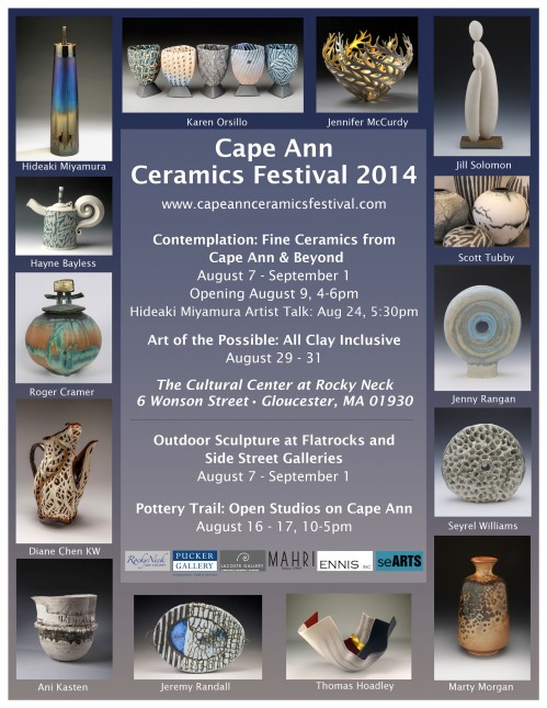 cape ann ceramics festival poster copy