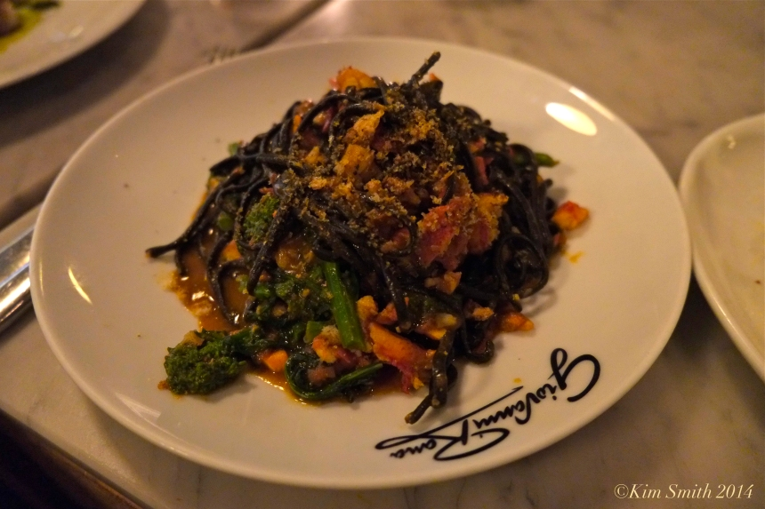 Giovanni Rana squid ink pasta broccoli rabe lobster ©Kim Smith 2014