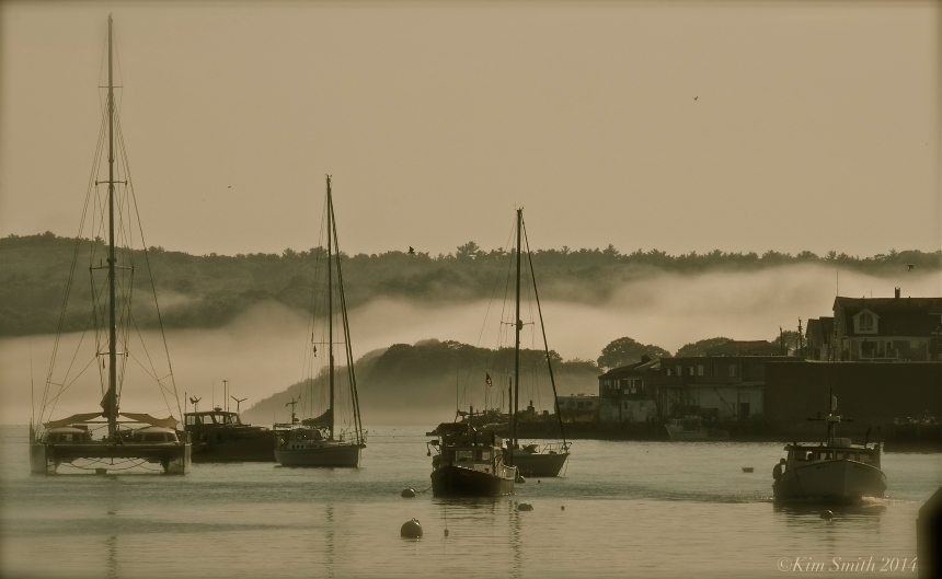 Gloucester Harbor Fog ©Kim Smith 2014