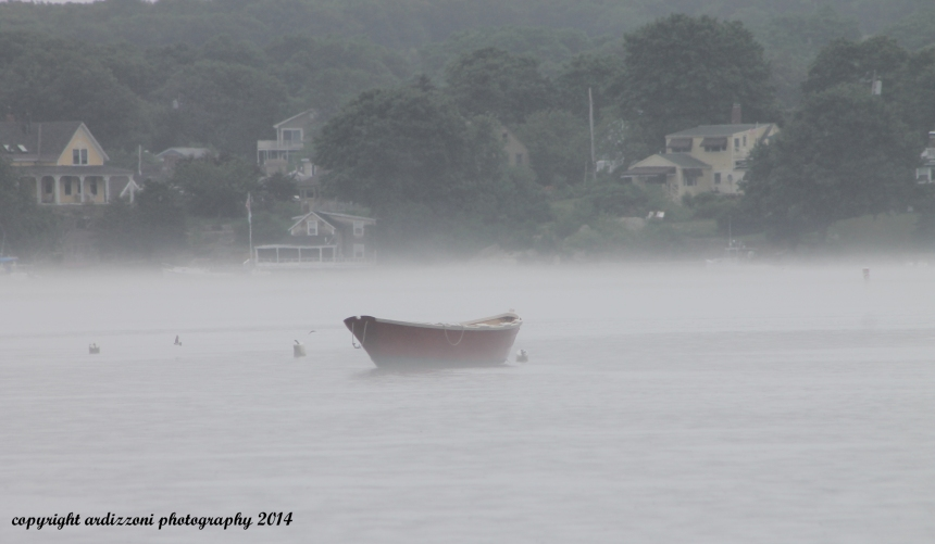 July 16, 2014 another red boat in the fog