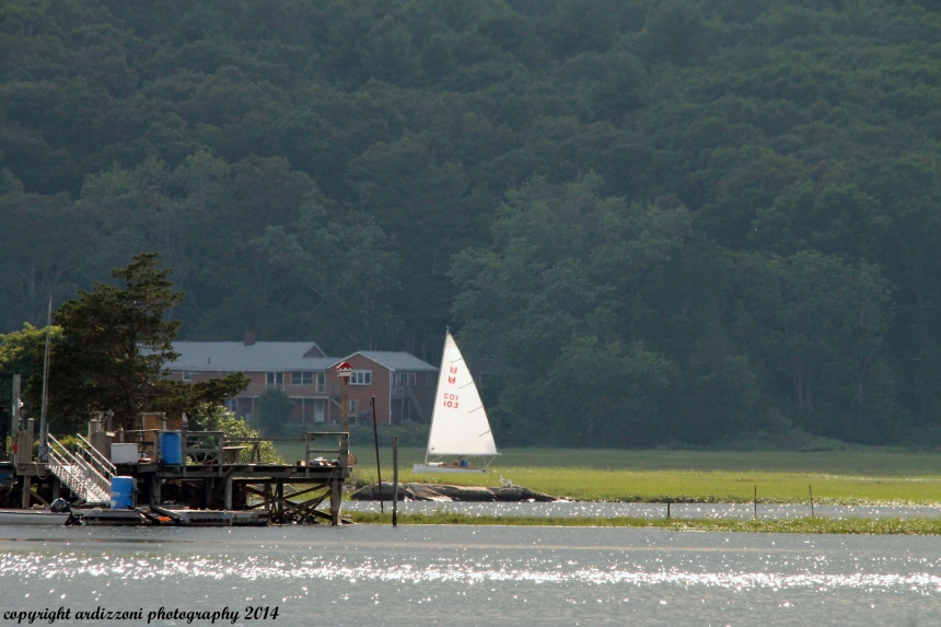 July 17, 2014 sailing around the squam